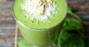 Cashew Coconut Spinach Protein Smoothie