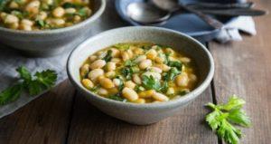 Butter Bean & Spinach Soup