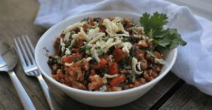 Chicken Chili with Black Beans & Monterey Jack Cheese