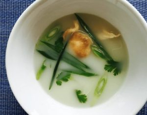 coconut lemongrass soup with ginger
