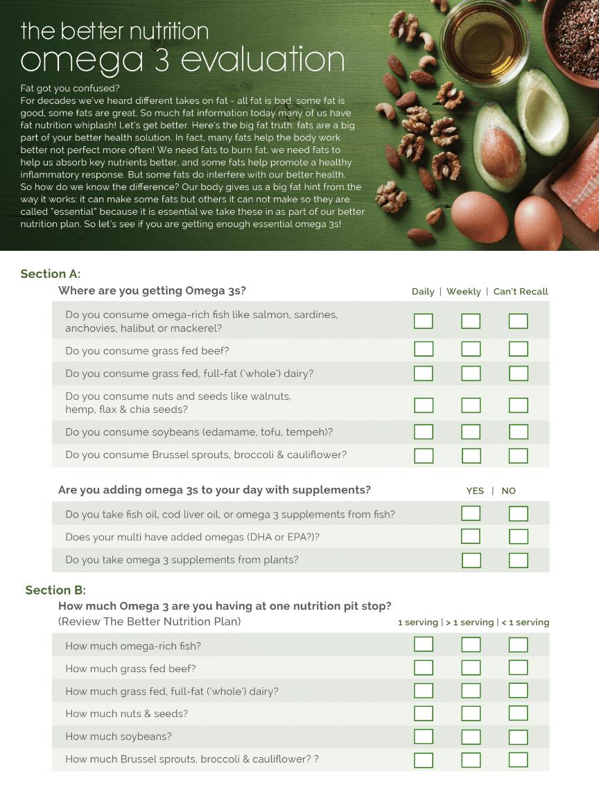 omega 3 nutrition