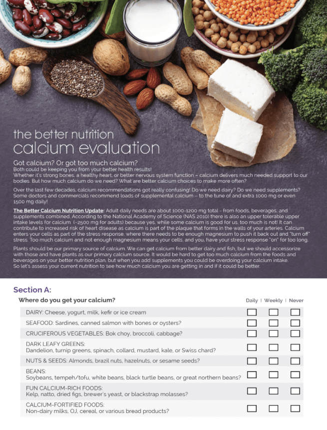 calcium nutrition