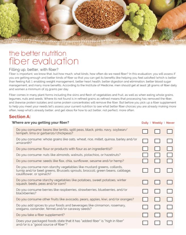 fiber nutrition