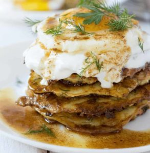 Better Zucchini & Feta Fritters (with Yogurt & Fried Egg)