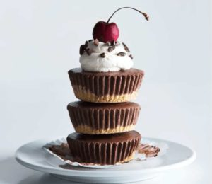 The Better No-Bake Chocolate Cherry Protein Cheesecake