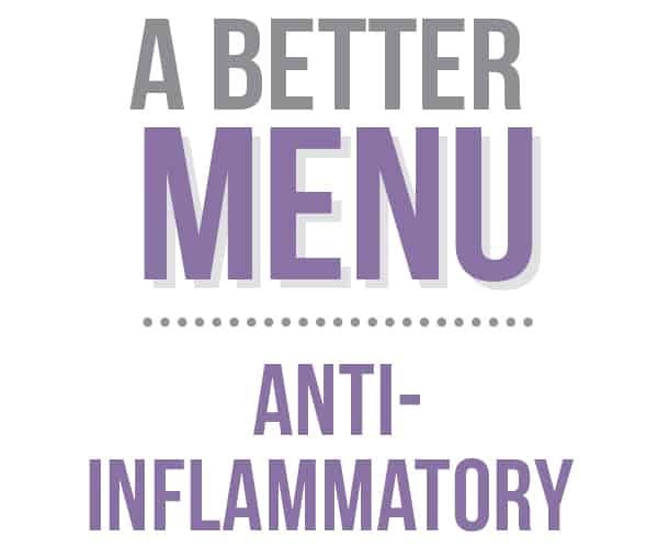 anti-inflammatory menu