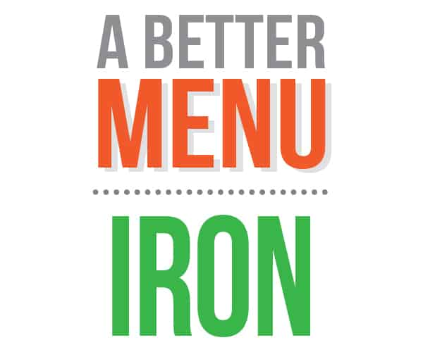 better nutrition iron menu