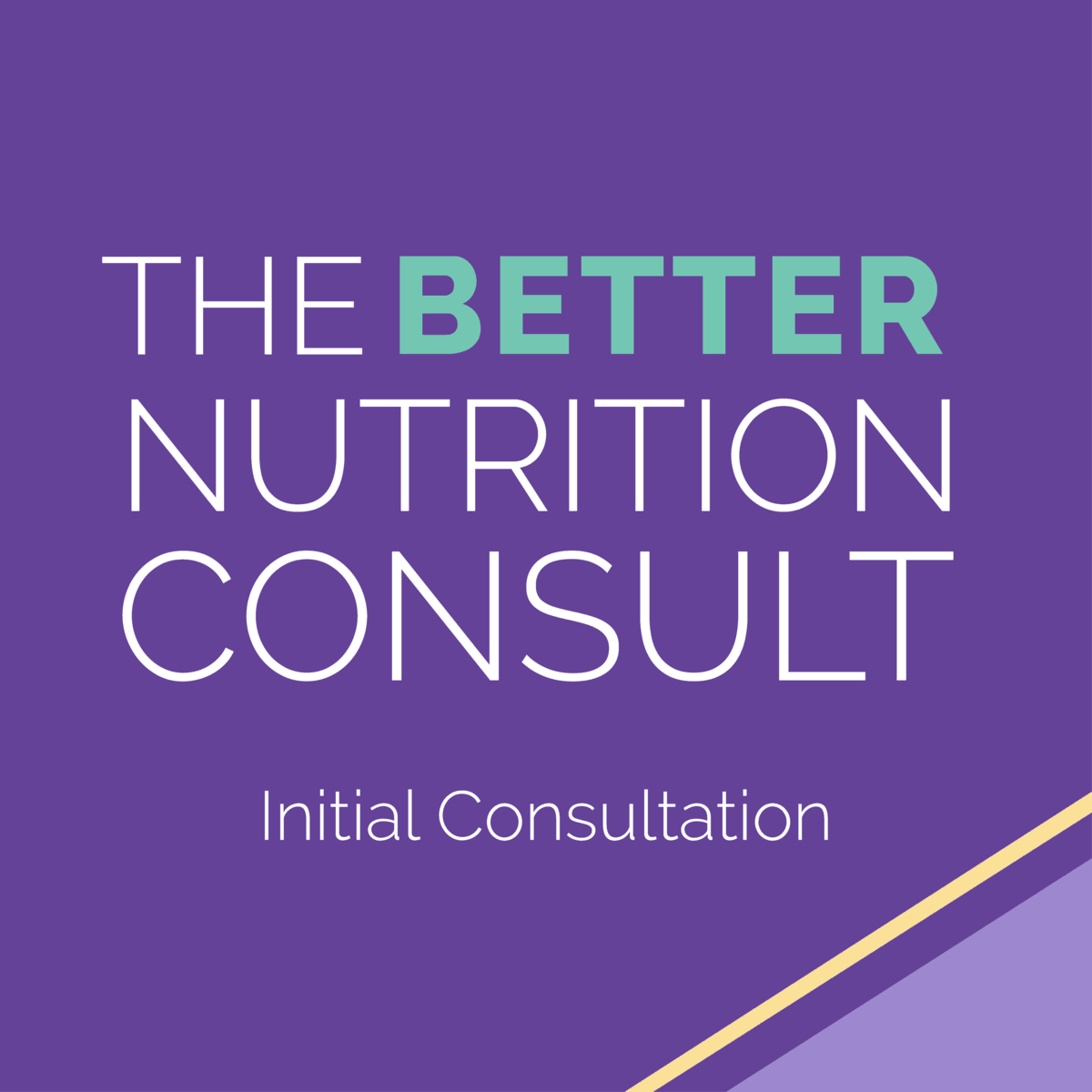 better initial nutrition consult appointment