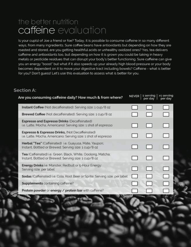 caffeine coffee tea quiz