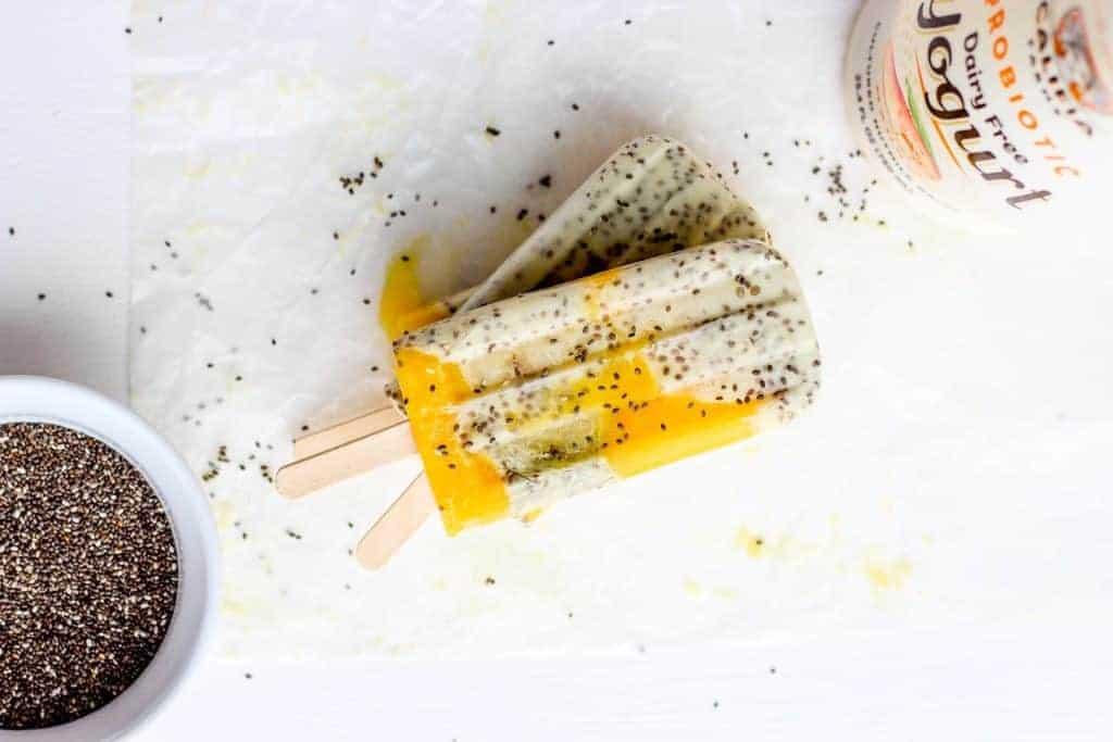 mango banana pudding pops