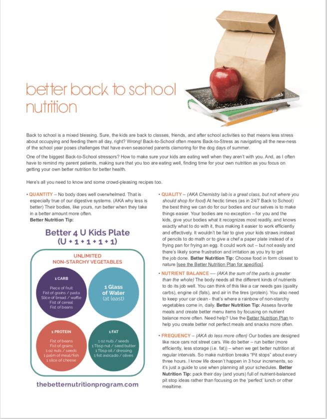 school kids nutrition