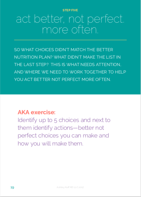 making better nutrition choices