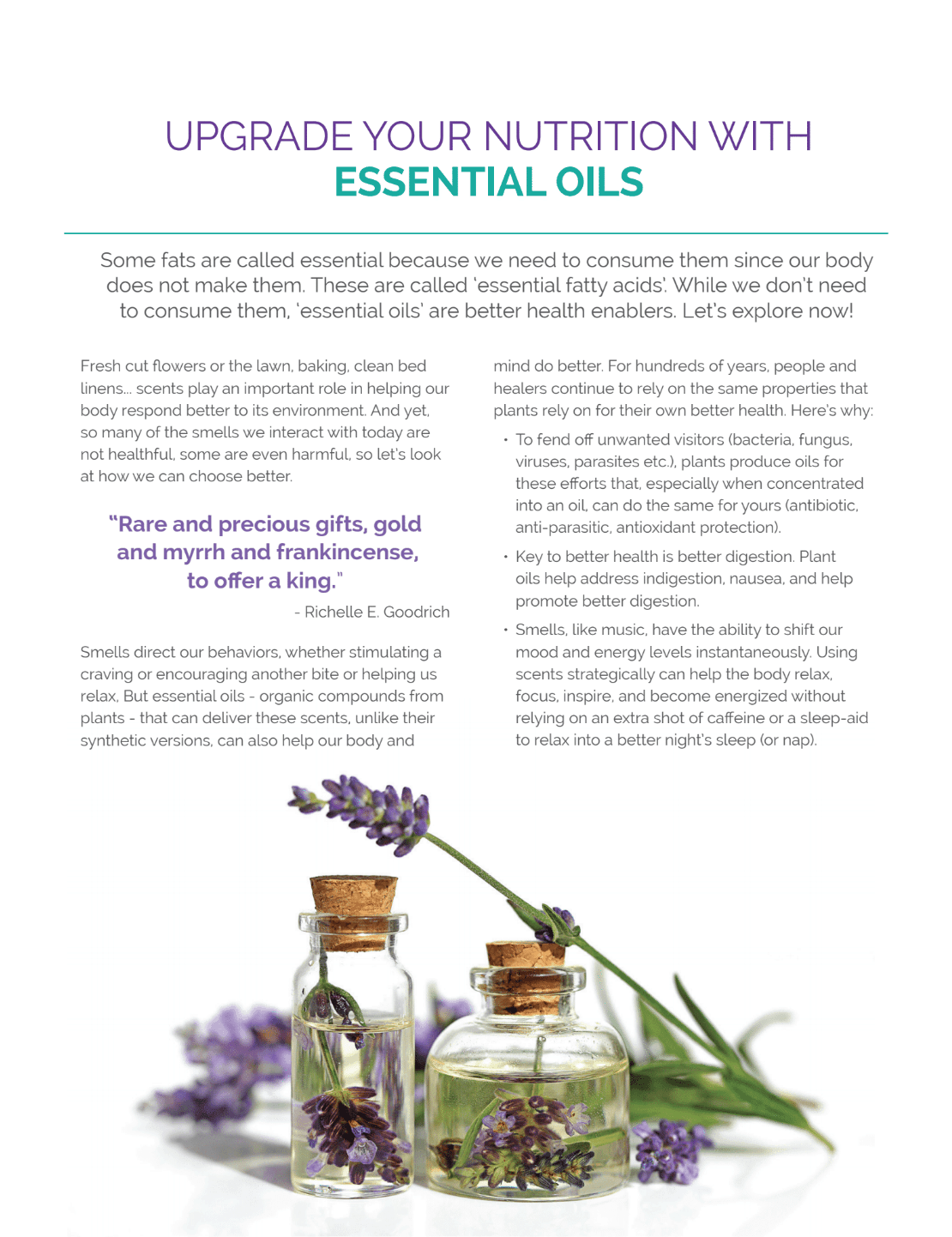 essential oils nutrition