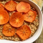 Better Pear Persimmon Crisp We love this recipe from Carrie Gabriel MS RD of Steps2Nutrition.com and you will too, especially if you are looking for a gluten-free option for getting in fiber, deliciously! Grab the Better Nutrition Fiber evaluation to make sure you are giving your body enough of the better kinds of fiber more often. Ingredients 2 cups of gluten-free rolled oats 2 eggs ½ cup of white whole wheat or almond flour depending on your preference 1 tsp. baking powder 1 medium Bosc Pear chopped 2 medium persimmons 1 chopped, 1 sliced in circles to lay on top of the dish 2 tbsp. flaxseed meal 1 medium banana ripe ¾ cup unsweetened almond milk ¼ cup maple syrup 1 teaspoon of vanilla extract pinch of salt pinch of cinnamon if desired Instructions Preheat oven to 350F. Spray a 10x7 inch casserole dish with non-stick spray (coconut oil based is ideal) Place the banana in a large bowl and mash with a fork. Then add the eggs, almond milk, maple syrup, vanilla and flax seed meal. Stir. Next, add the rest of the ingredients. MAKE SURE to only add ONE chopped persimmon, the other goes on top! Then transfer this mixture into the casserole dish and spread evenly with a spatula. Lay the sliced pieces of persimmon on the top of the dish. Bake for 30 minutes. When the dish is cooked, let it cool a bit, then cut and serve with a dollop of Greek yogurt or a nut butter drizzle of your choice!