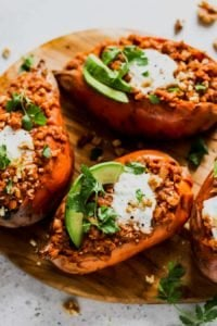 Better Smoky Lentil Stuffed Sweet Potato