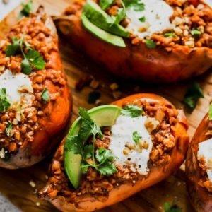 Better Smoky Lentil Stuffed Sweet Potato