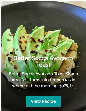 get potassium socca avocado toast