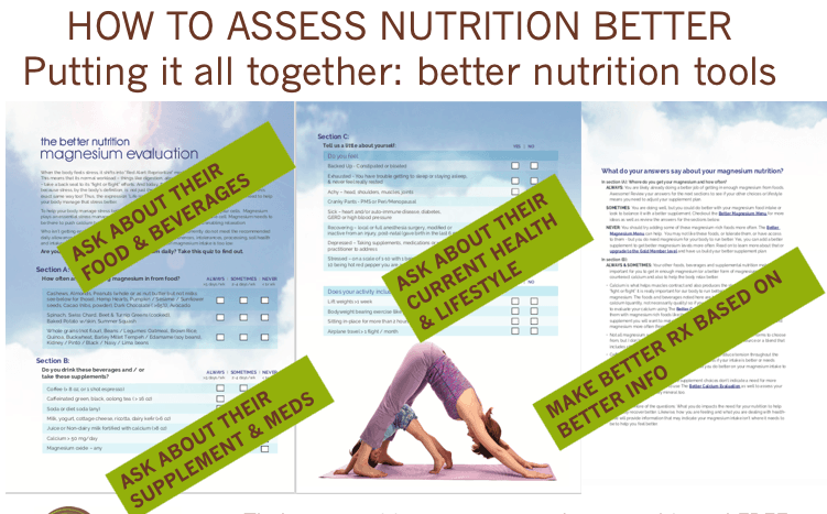 Better nutrition tools to better assess client's nutrition