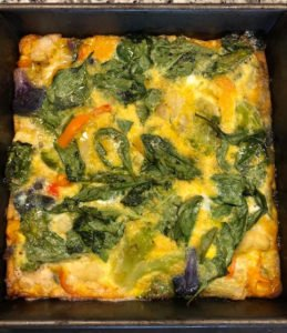 egg and spinach frittata