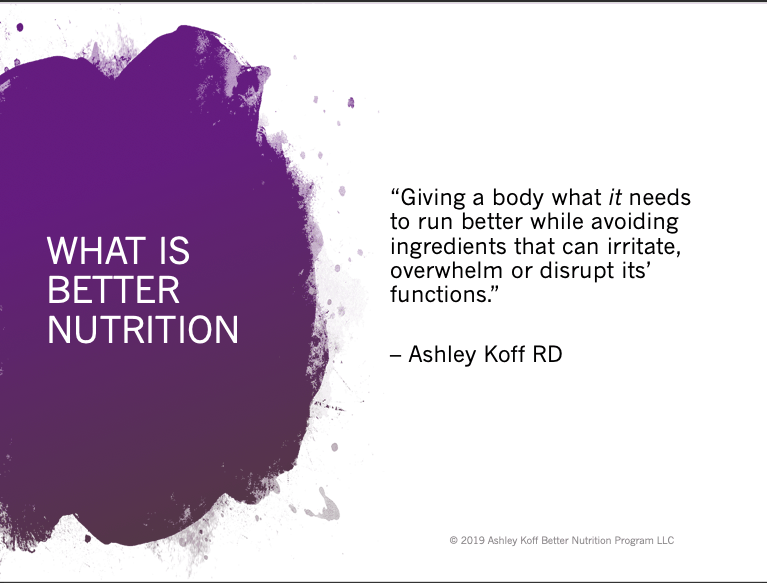 better nutrition definition