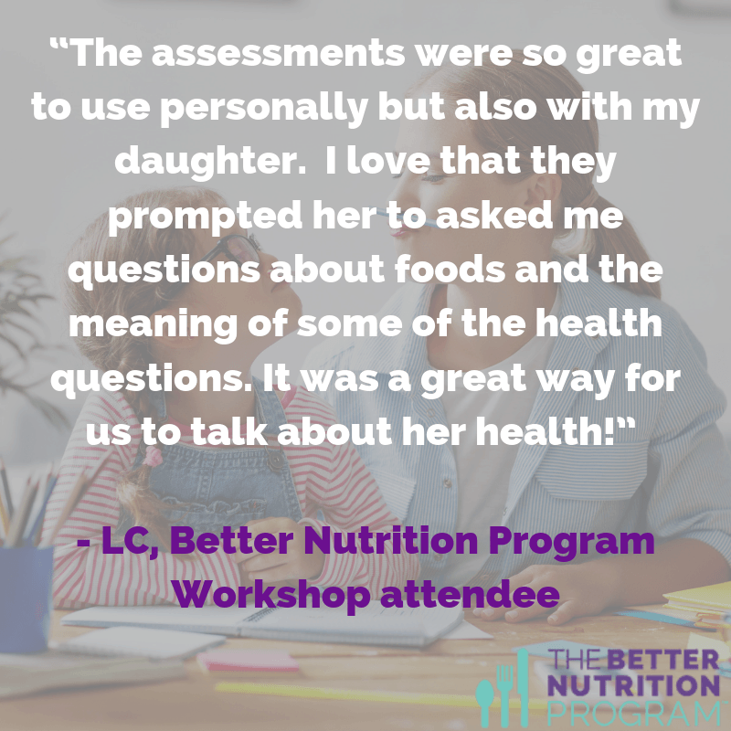 Using better nutrition tools together helped a parent and her teen learn what to eat for better teen skin