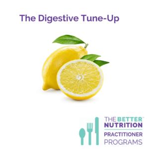 Digestive Tune-Up Program promo with lemons