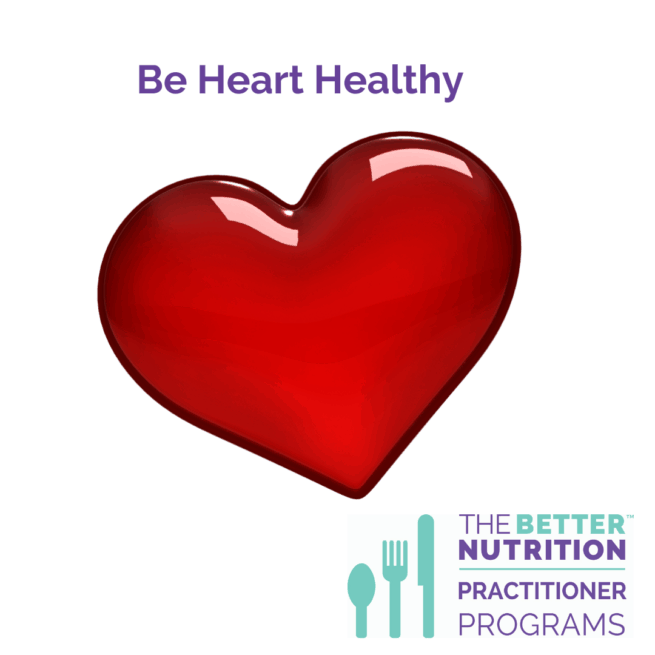 be heart healthy nutrition program cover image with heart