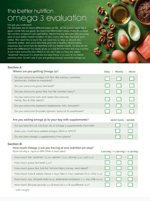 omega 3 evaluation