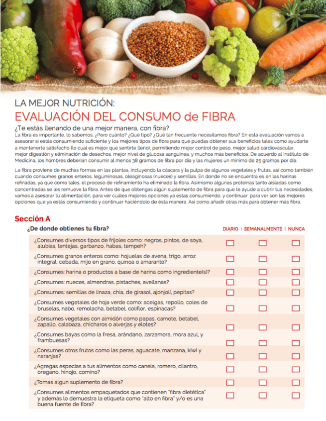 Fiber Evaluation in Spanish