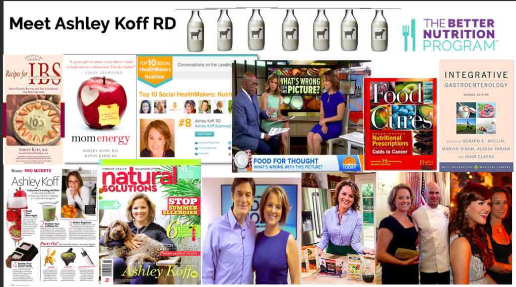Ashley Koff RD images on tv and magazines