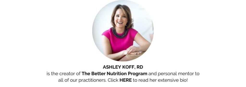 Business of Supplement Sales Ashley Koff RD