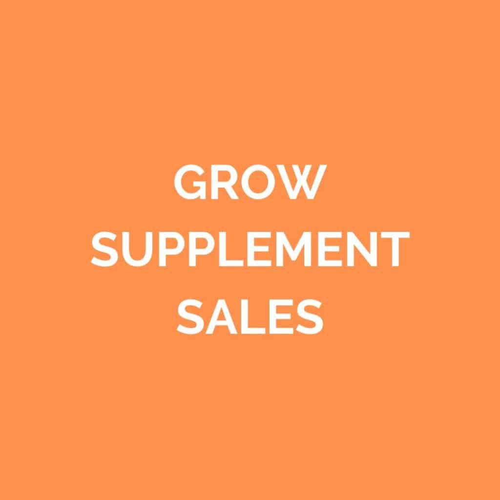 Grow Supplement Sales
